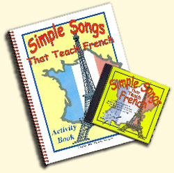 Simple Songs That Teach French CD and Booklet
